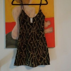 Chain Print Silk Slip